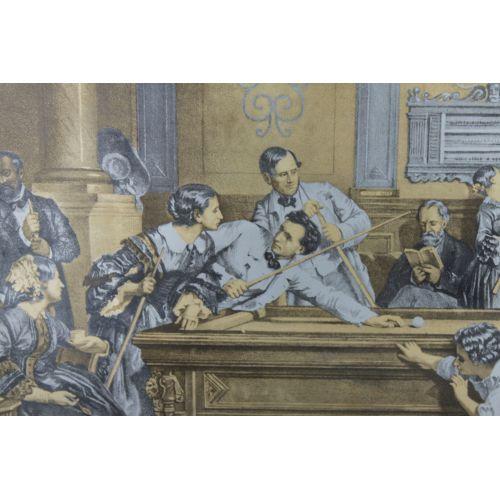 Панно (серия художники прошлого) «Старинный бильярд»
