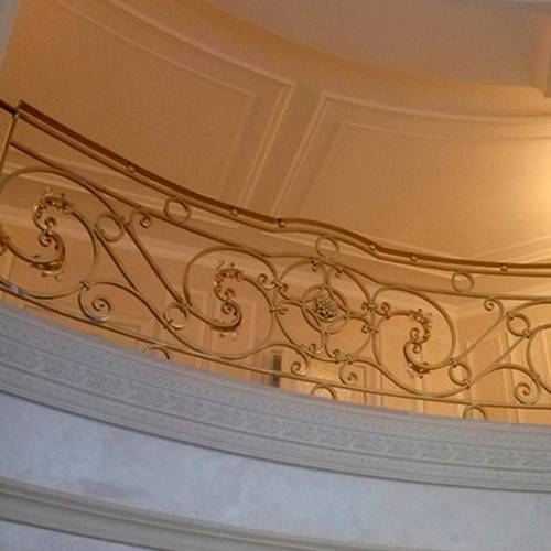 Внутренние лестничные кованые перила - 25