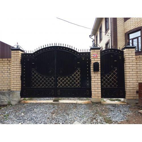 Кованые ворота и калитка - 101