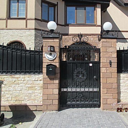Кованые ворота и калитка - 11.