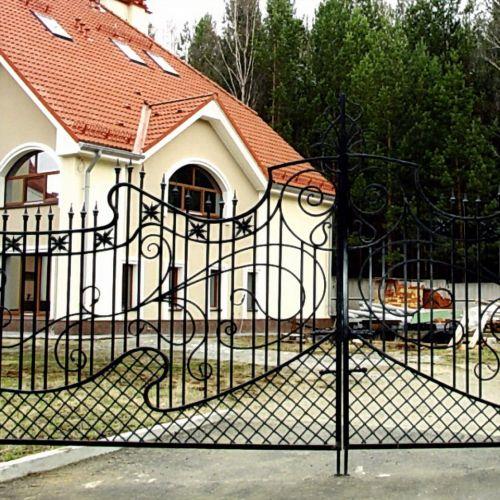 Кованые ворота и калитка - 13.
