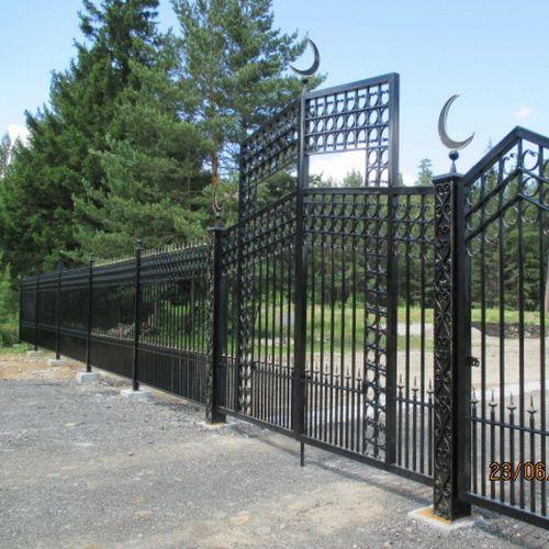 Кованые ворота и калитка - 14.