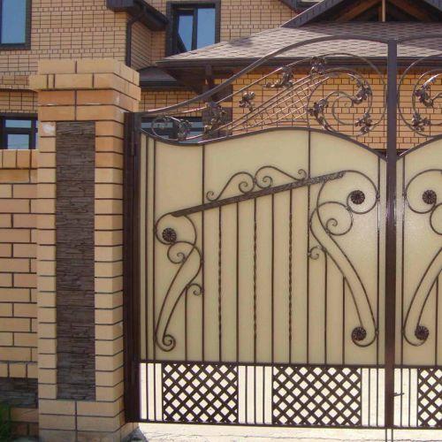 Кованые ворота и калитка - 15.