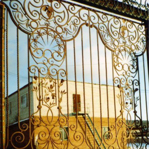 Кованые ворота и калитка - 17.