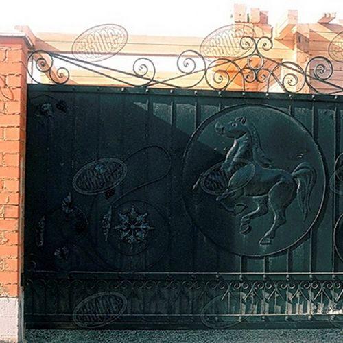 Кованые ворота и калитка - 18.