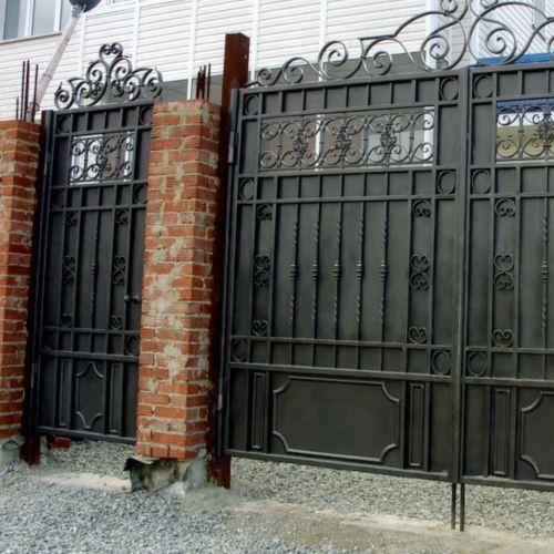 Кованые ворота и калитка - 19.