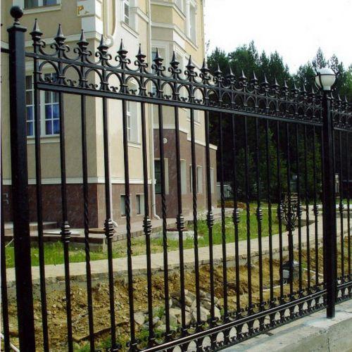 Кованые ворота и калитка - 01.