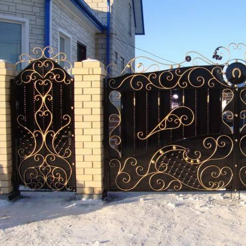 Кованые ворота и калитка - 21.