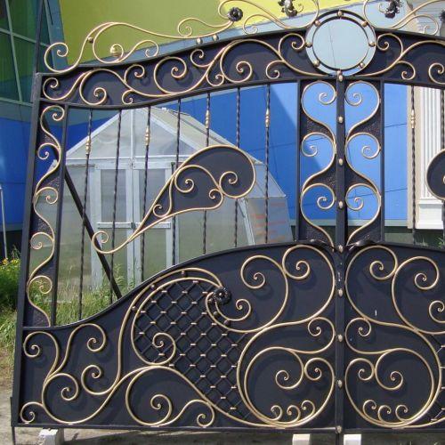 Кованые ворота и калитка - 22.
