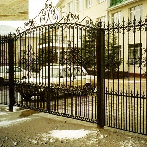 Кованые ворота и калитка - 23.