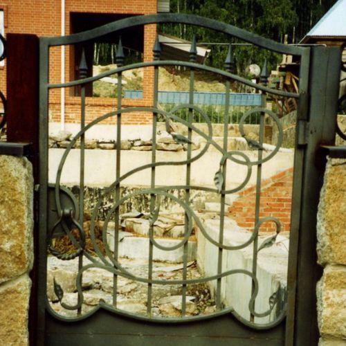 Кованые ворота и калитка - 25.