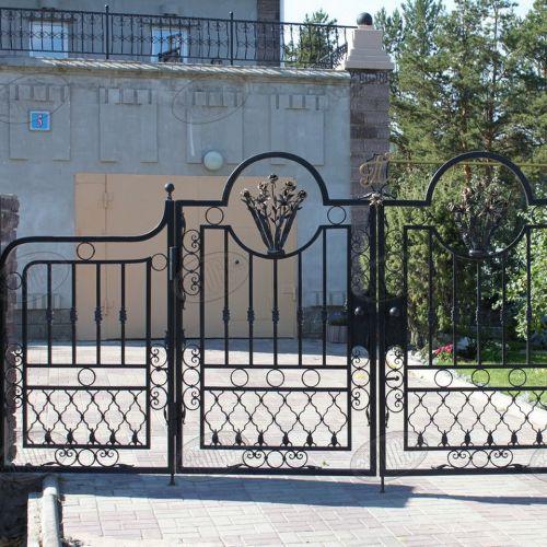 Кованые ворота и калитка - 27.