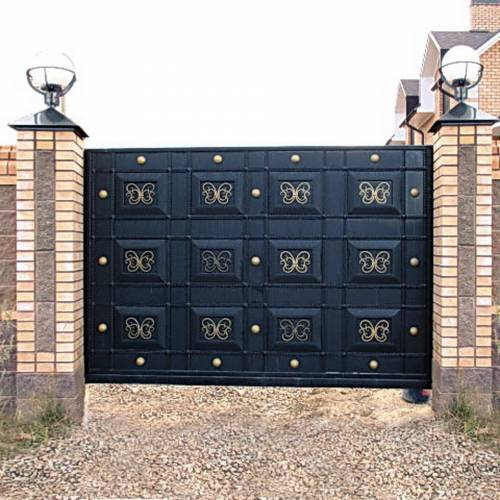 Кованые ворота и калитка - 29.