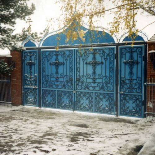 Кованые ворота и калитка - 02.