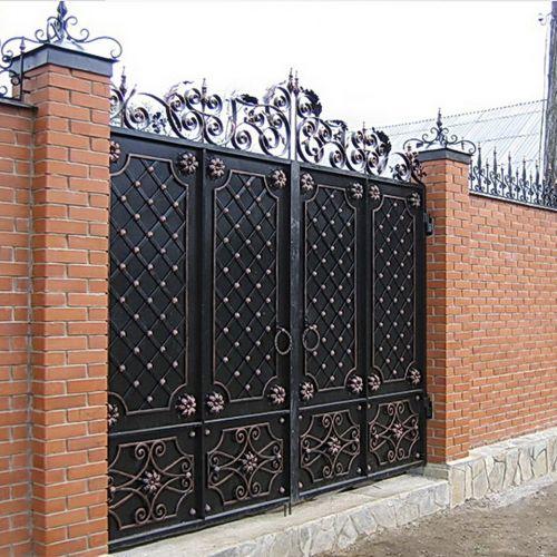 Кованые ворота и калитка - 33.
