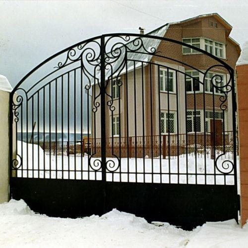 Кованые ворота и калитка - 35.
