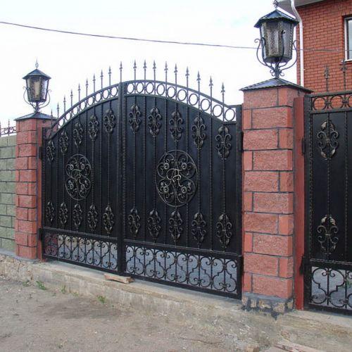 Кованые ворота и калитка - 36.