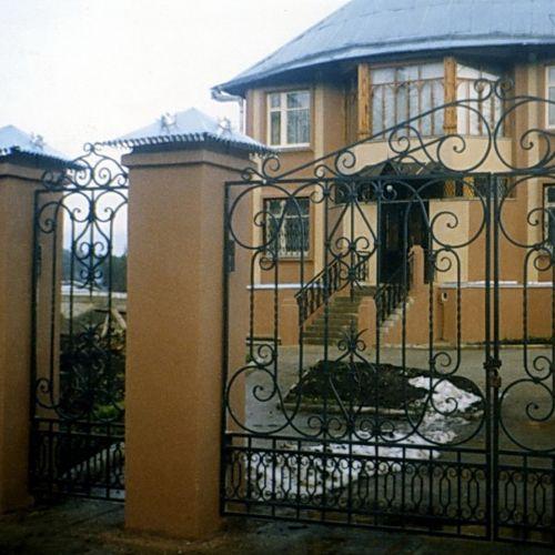Кованые ворота и калитка - 37.