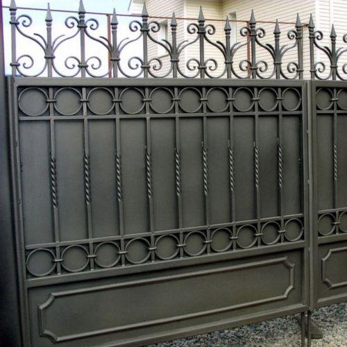Кованые ворота и калитка - 38.