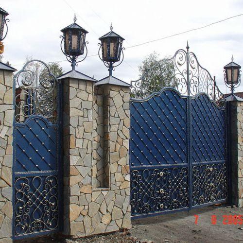 Кованые ворота и калитка - 39.