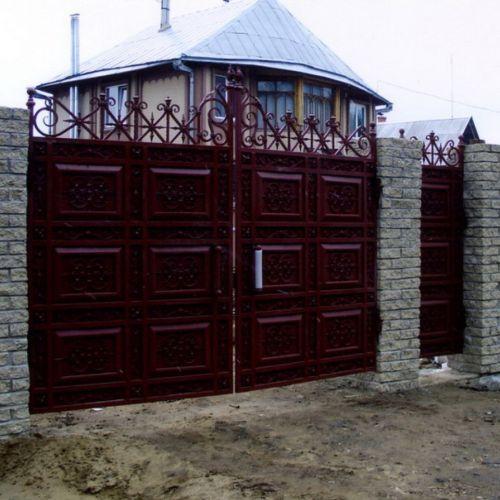 Кованые ворота и калитка - 03.
