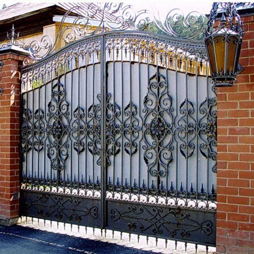 Кованые ворота и калитка - 40.