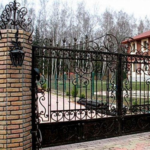 Кованые ворота и калитка - 42