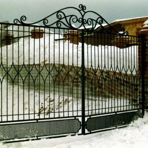 Кованые ворота и калитка - 43.