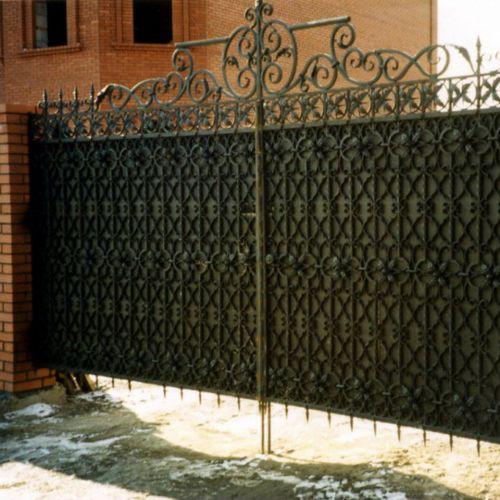 Кованые ворота и калитка - 44