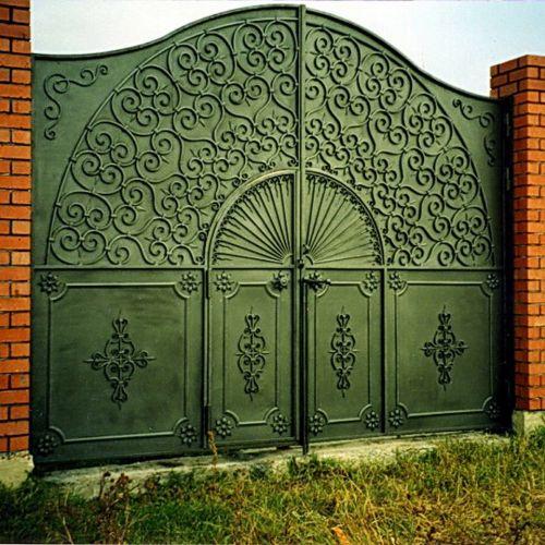 Кованые ворота и калитка - 46