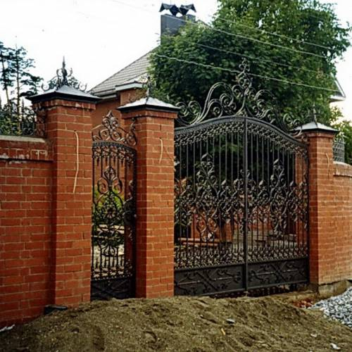 Кованые ворота и калитка - 49.