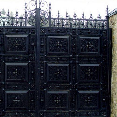 Кованые ворота и калитка - 04.
