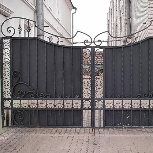 Кованые ворота и калитка - 51.