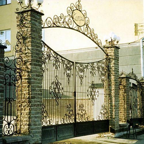 Кованые ворота и калитка - 53.