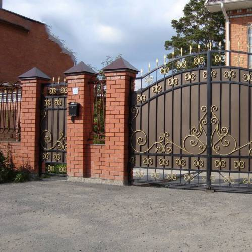 Кованые ворота и калитка - 54.