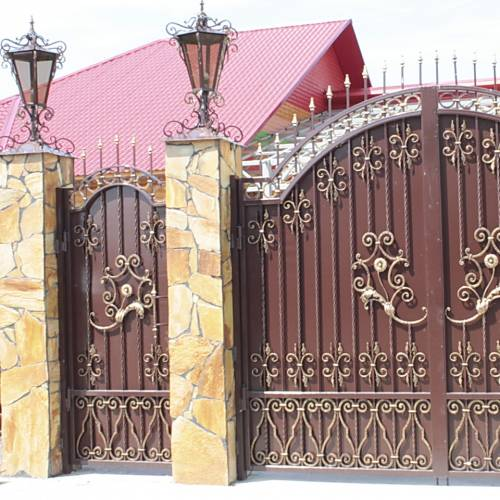 Кованые ворота и калитка - 55.