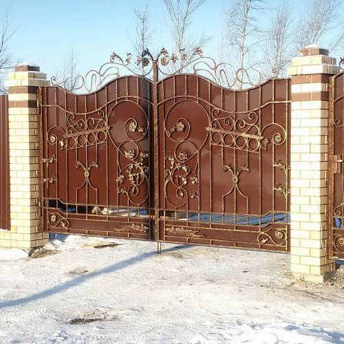 Кованые ворота и калитка - 56.