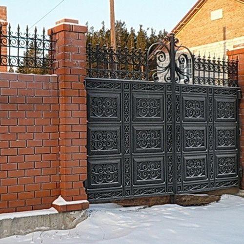 Кованые ворота и калитка - 58.