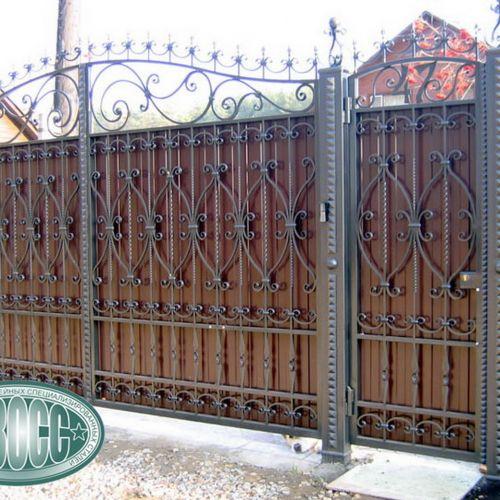 Кованые ворота и калитка - 61.