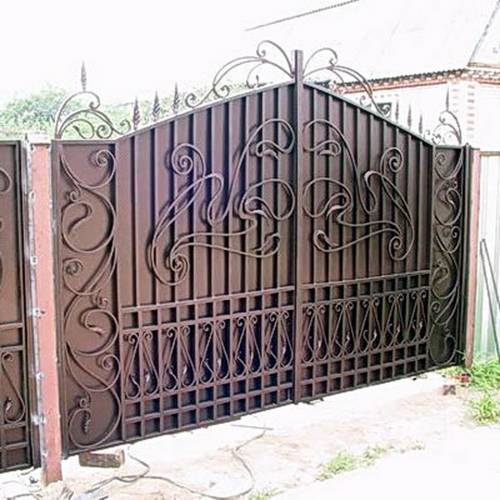 Кованые ворота и калитка - 65.