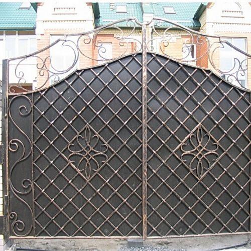 Кованые ворота и калитка - 67.