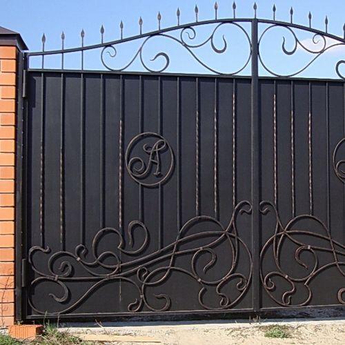 Кованые ворота и калитка - 68.