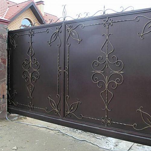 Кованые ворота и калитка - 69.