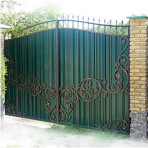 Кованые ворота и калитка - 71.