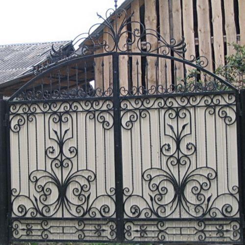 Кованые ворота и калитка - 76.