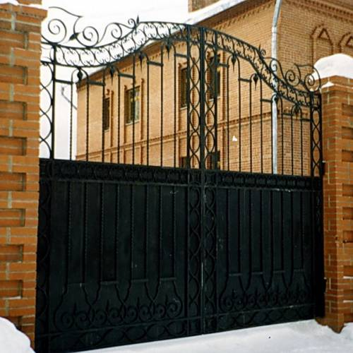 Кованые ворота и калитка - 78.