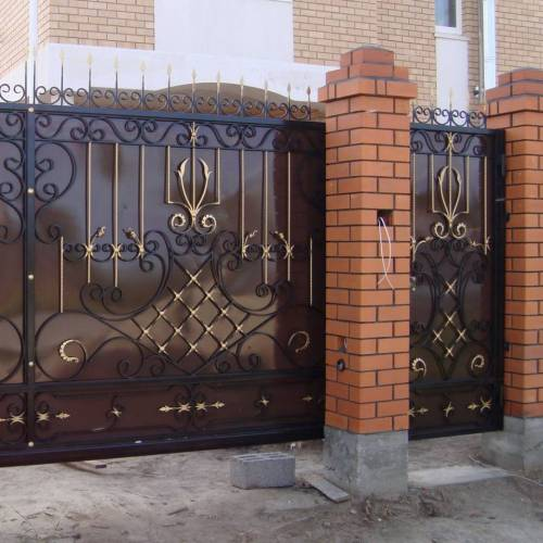 Кованые ворота и калитка - 79.