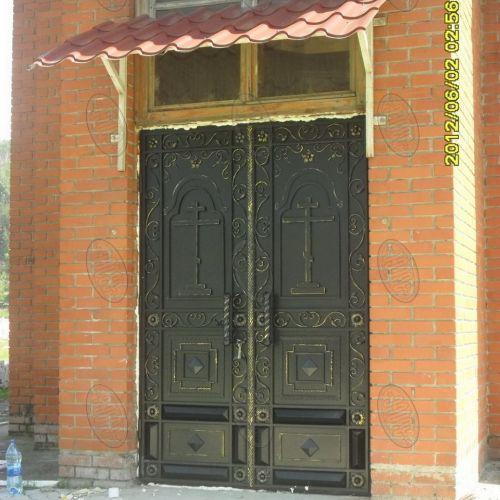 Кованые ворота и калитка - 07.