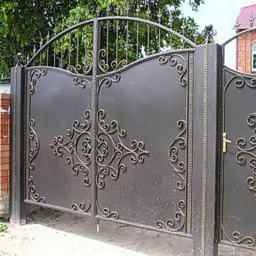 Кованые ворота и калитка - 81.