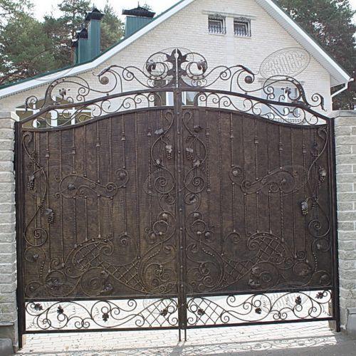 Кованые ворота и калитка - 83.